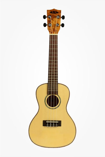 Kala KA-FMCG Solid Spruce Top Flame Maple Concert Ukulele