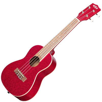 Kala Sparkle Series Concert Ukulele in Ritsy Red