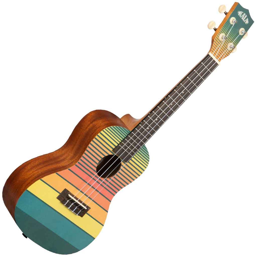 Kala Surf Series Concert Ukulele with Dawn Patrol Design