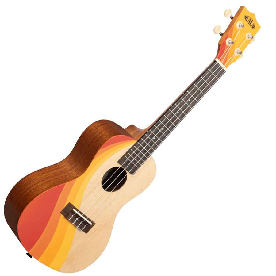 Kala Surf Series Concert Ukulele with Swell Design