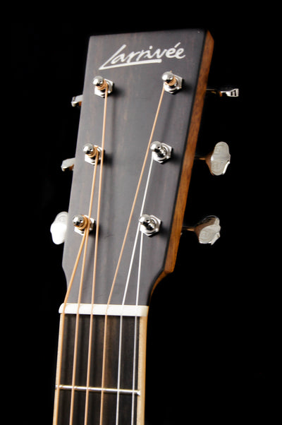 Larrivee OMV-40R Moon Spruce Top Acoustic Guitar Headstock