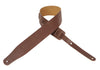 "Levy's Leathers 2½"" Leather Guitar Strap M26-BRN"