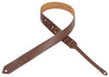 "Levy's Leathers 1½"" Leather Guitar Strap M70-BRN"