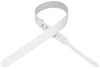 "Levy's Leathers 1½"" Leather Guitar Strap M70-WHT"