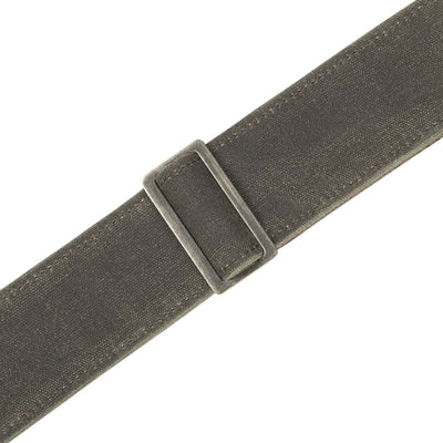 Levy's Leathers Traveler Waxed Canvas Guitar Strap in Forest Green