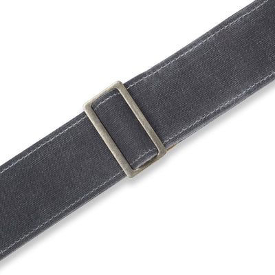 "Levy's Leathers Traveler Waxed Canvas 2"" Guitar Strap - Gray"