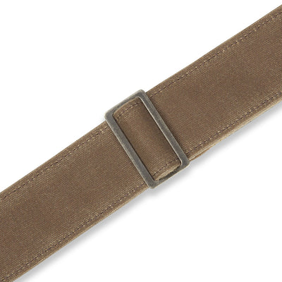 "Levy's Leathers Traveler Waxed Canvas 2"" Guitar Strap - Tan"