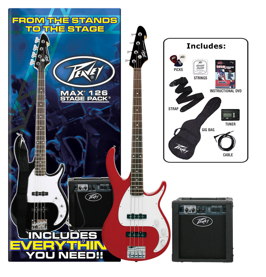 Peavey MAX Stage Bass Guitar Pack - Red