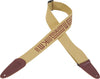 "Levy's Mayan Series 2"" Tan Cotton Guitar Strap"