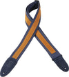 "Levy's Leathers 2"" Cotton Guitar Strap With Decorative Suede Strip MC8S-NAV"