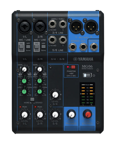 Yamaha MG06 6 Channel Mixing Board