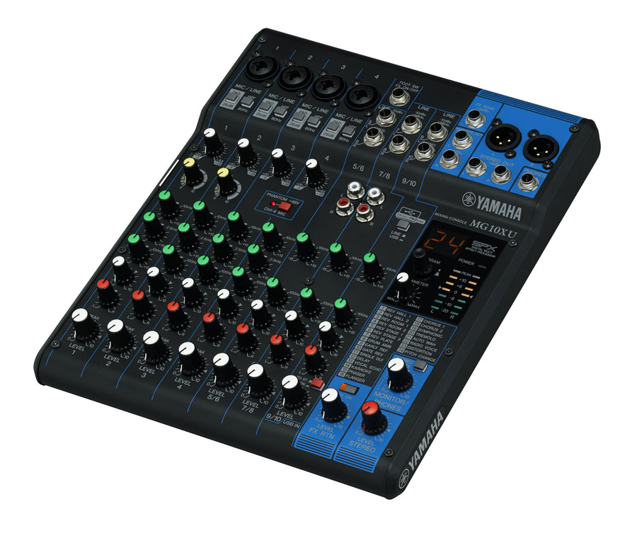 Yamaha MG10XU 10 Channel Mixer w/ SPX Effects and USB