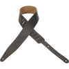"Levy's 2 1/2"" Garment Leather Guitar Strap MG317VAN-BLK"