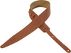 "Levy's 2 1/2"" Tan Designer Leather Guitar Strap MG317WYT-TAN"