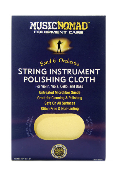 Music Nomad MN 731 String Instrument Microfiber Polishing Cloth for Violin, Viola, Cello & Bass