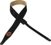 "Levy's Leathers 2"" Suede Leather Guitar Strap MS217-BLK"
