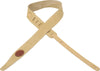 "Levy's Leathers 2"" Suede Leather Guitar Strap MS217-TAN"