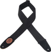 "Levy's Leathers 2"" Signature Series Cotton Guitar Strap MSSC8-BLK"