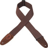 "Levy's Leathers 2"" Signature Series Brown Cotton Guitar Strap MSSC8-BRN"