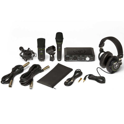 Mackie Producer Bundle w/Onyx Producer 2x2 USB Interface, EM-89D Dynamic Microphone, EM-91C Condenser Microphone, and MC-100 Headphones
