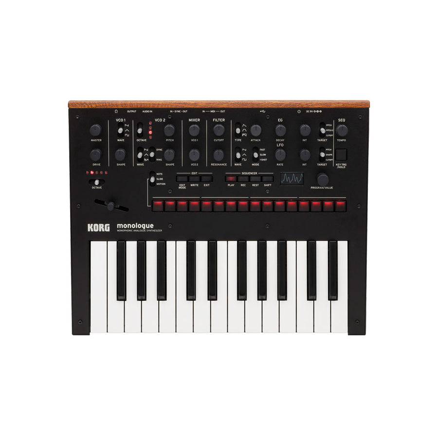 Korg Monologue Monophonic Analog Synthesizer in Black