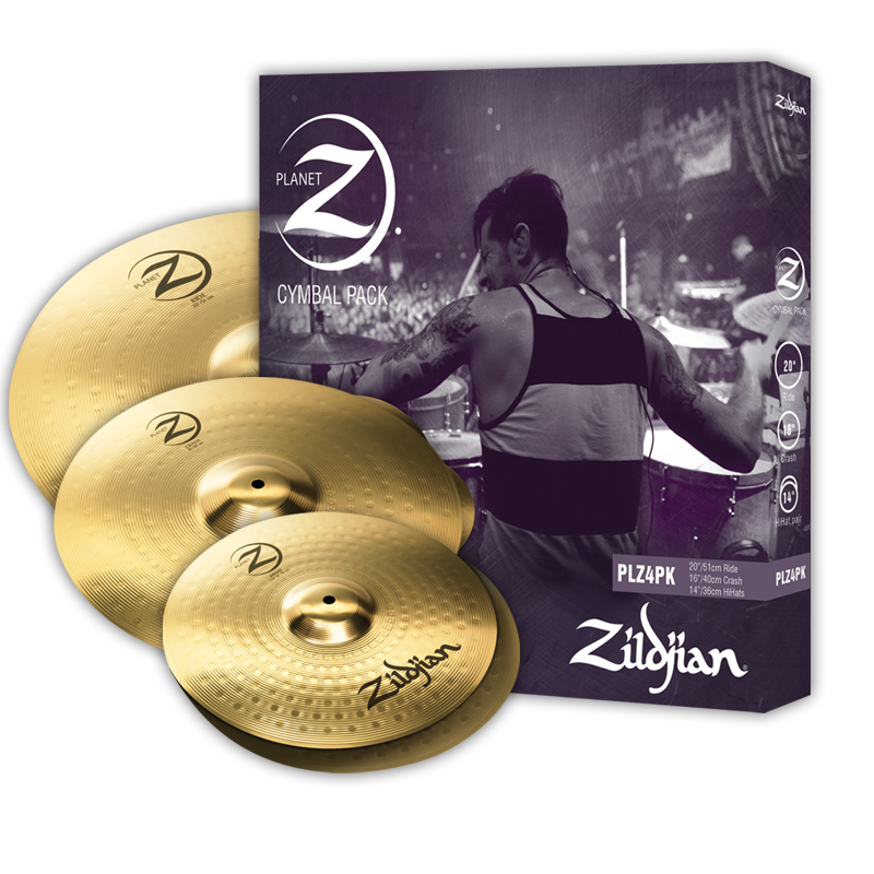 Zildjian Planet Z 4 Pack Cymbal Set