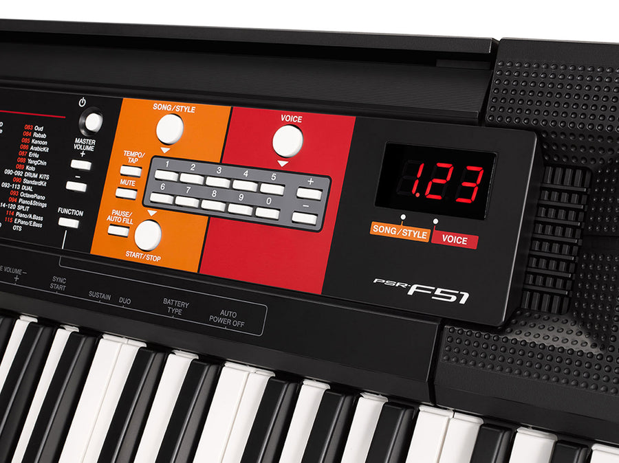 Yamaha PSRF51 Portable Keyboard with Survival Kit