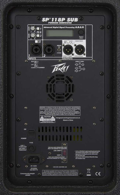 "Peavey SP118P Powered 18"" Subwoofer"