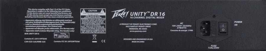 Peavey Unity DR16 16-Channel Digital Rack Mixer