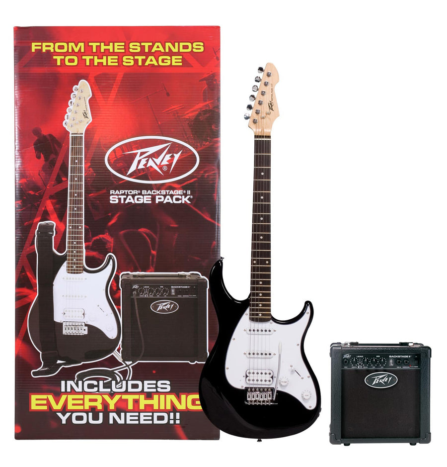 Peavey Raptor Stage Electric Guitar Pack - Black