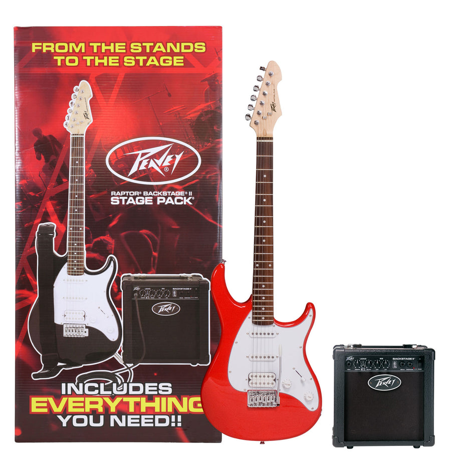 Peavey Raptor Stage Electric Guitar Pack - Red