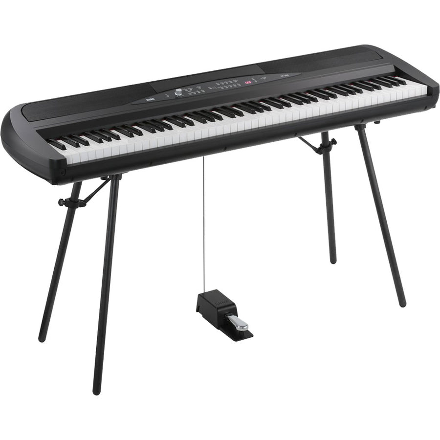 Korg SP-280 88-Key Digital Piano w/Stand in Black