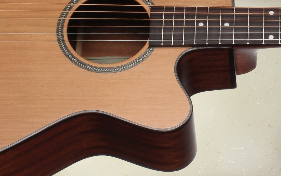Teton STG105CENT Grand Concert Acoustic Electric Guitar