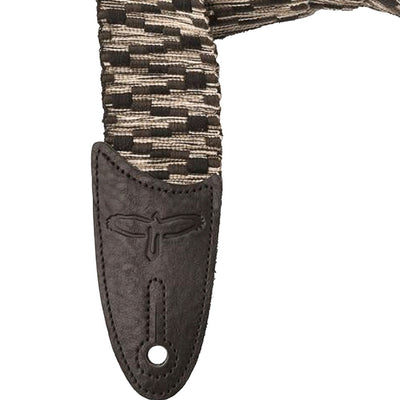 "PRS Guitars 2"" Woven Cotton Guitar Strap in Black and Gray"