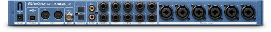 PreSonus Studio1824 18x8, 192 kHz, 24-bit Recording Interface