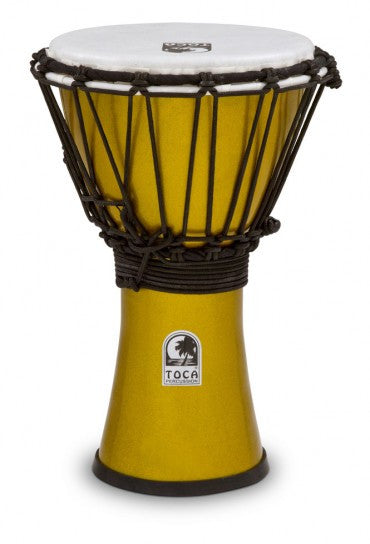"Toca TFCDJ-7MY Freestyle Colorsound 7"" Djembe Metallic Yellow"