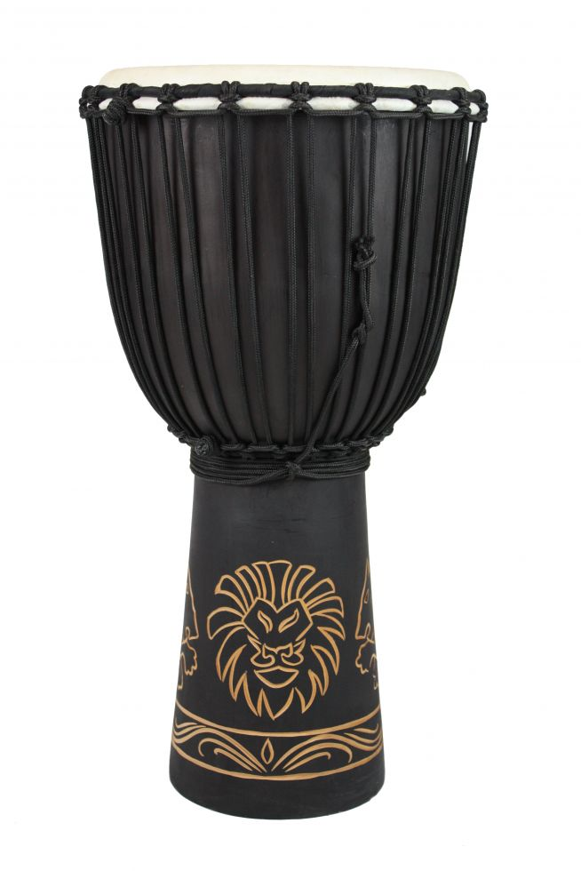"Toca Carved Lion Origins Series 10"" Djembe"