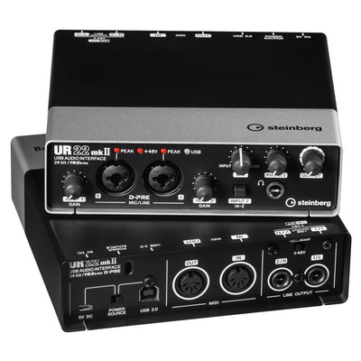 Steinberg UR22 mkII 2x2 USB 2.0 Audio Interface w/2x D-PRE's and 192 kHz Support