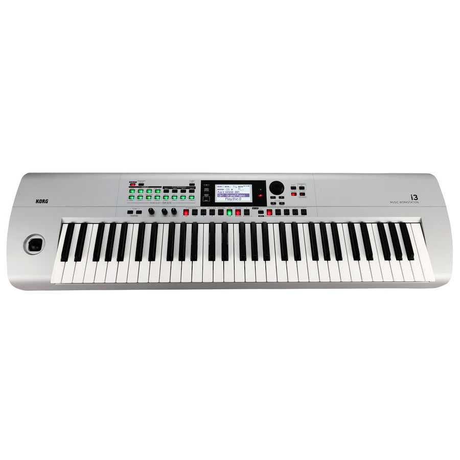 Korg i3 61-Key Music Workstation Keyboard in Silver