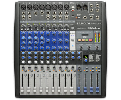 Presonus AR12 USB 14 Channel Hybrid Performance and Recording Mixer