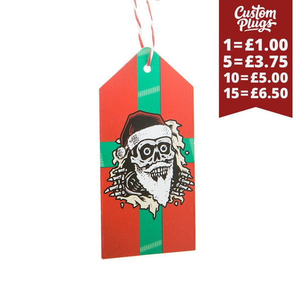 Bad Santa - Swing Tag - Custom Flesh Plugs & Gauges, Alternative, Tattoo - Wrapping Paper - 1