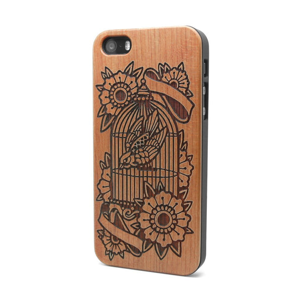 Bird Cage - iPhone Case - Custom Flesh Plugs & Gauges, Alternative, Tattoo - Phone Cases - 1