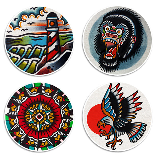Burton - Sticker Pack - Custom Flesh Plugs & Gauges, Alternative, Tattoo - Stickers - 1