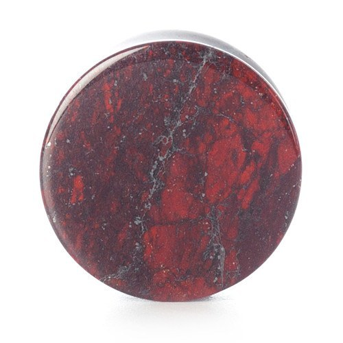 Red Speckled Stone Plug - Custom Flesh Plugs & Gauges, Alternative, Tattoo - Stone Plugs - 1