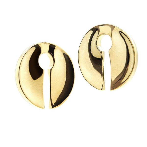 Brass Keyhole Ear Weights (Pair) - Custom Flesh Plugs & Gauges, Alternative, Tattoo - Ear Weights - 1