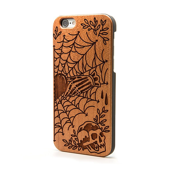 Claddagh Heart (Spider Web Heart) - iPhone Case - Custom Flesh Plugs & Gauges, Alternative, Tattoo - Phone Cases - 1