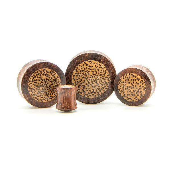 Coconut Core Wood Plug - Custom Flesh Plugs & Gauges, Alternative, Tattoo - Wood Plugs - 1