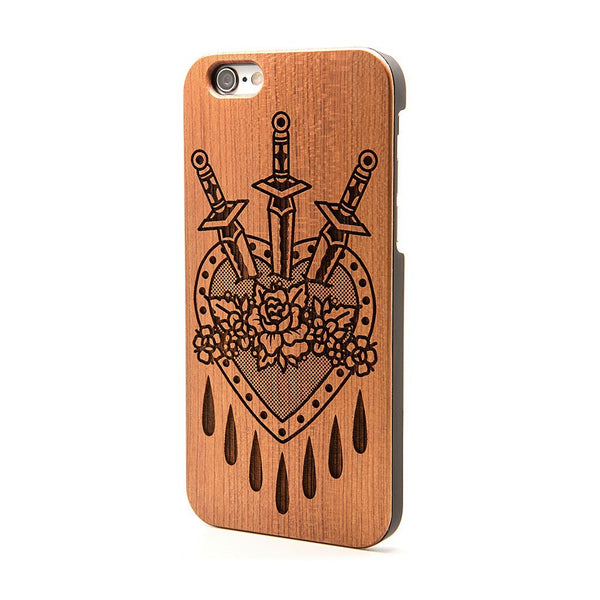 Dagger Love Heart - iPhone Case - Custom Flesh Plugs & Gauges, Alternative, Tattoo - Phone Cases - 1