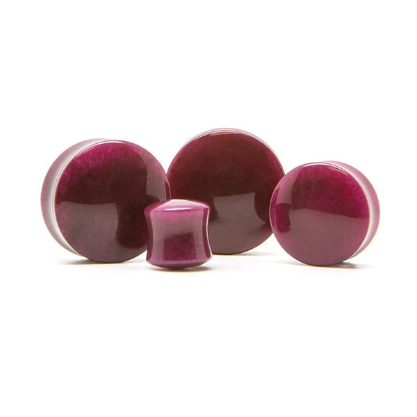 Deep Purple Stone Plug - Custom Flesh Plugs & Gauges, Alternative, Tattoo - Stone Plugs - 1