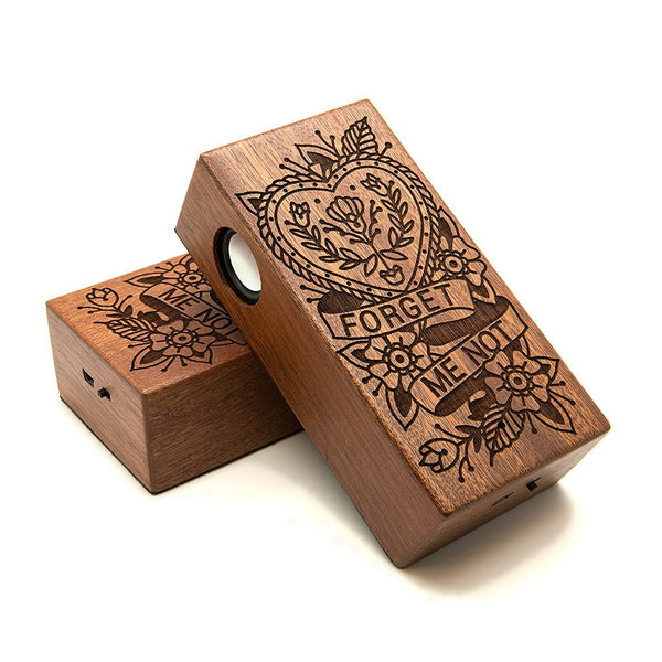 Forget Me Not Wireless Speaker Box - Custom Flesh Plugs & Gauges, Alternative, Tattoo - Speaker - 1